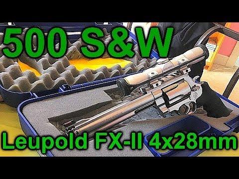500 Smith and Wesson Scoped (leupold fx-II 4x28mm duplex handgun scope)