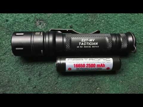 Surefire Tactician and Orbtronic 16650 Test