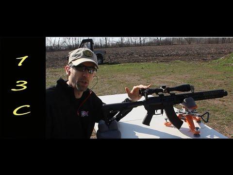 Nikon Monarch 3 3-12x42 BDC reticle FFP on a CMMG MK47 AKS13