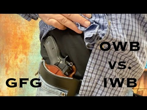 Inside the Waistband vs Outside the Waistband : Best Concealed Carry Holster