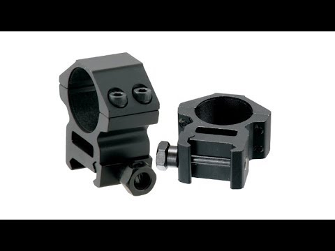 UTG Accushot medium height scope rings unboxing and overview.