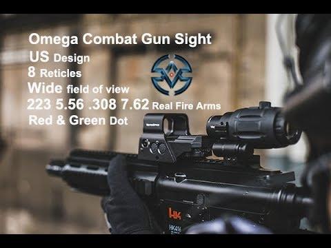Vector Optics Omega US Design 8 Reticles Combat Tactical QD Reflex Red Dot Gun Sight