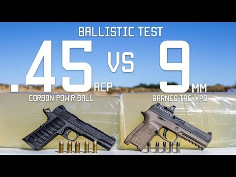 .45cal Vs 9mm Ballistic Test   Ammo Comparison   Tactical Rifleman