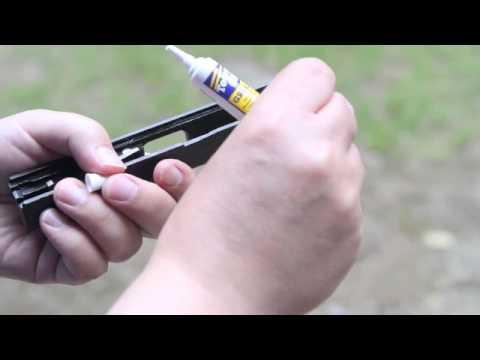 Tetra® Gun Grease on Semi-Auto Pistol Rails