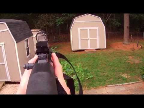 Review of new Field Sport Red & Green Reflex Sight w/ 4 Reticles. Mounted on Hi Point 995.