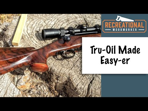 Finishing a Gun stock with Tru Oil - Complete How To (The Recreational Woodworker)