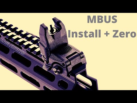 Install and Zero Magpul MBUS sights