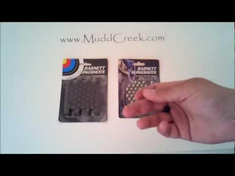 Barnett Slingshot Target & Hunting Ammo Review by MUDD CREEK