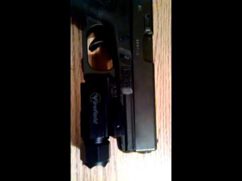 Glock tactical light and holster
