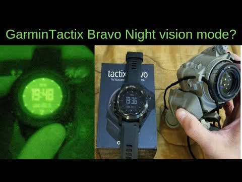 Garmin Tactix Bravo Night Vision Mode actually work?