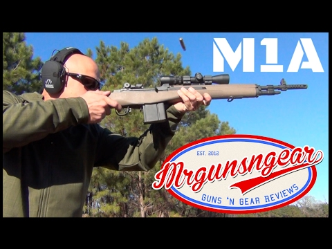 Springfield Armory M1A Scout Squad 308 Rifle & Burris 2-7x Scout Scope Review (HD)