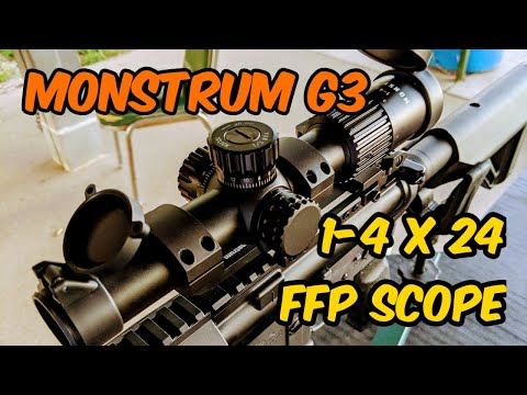 Monstrum G3 1-4 x 24 FFP Tactical Scope, Budget Scope under $200