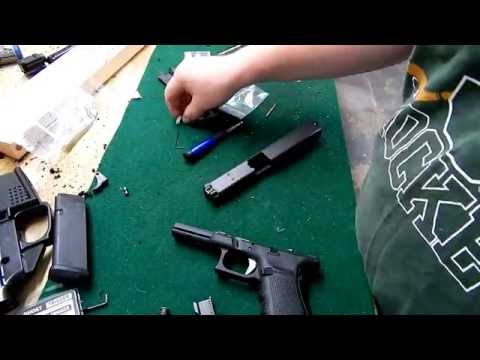 Installing the Lone Wolf UAT(ultimate adjustable Trigger) and Firing Pin Safety On Glock 40 MOS