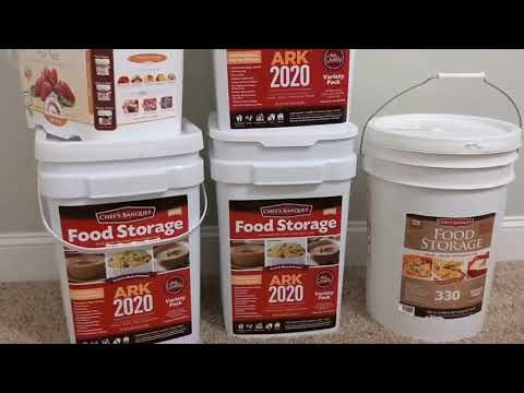Emergency Food Supply From Costco. Several Months of Food- 25 Year Shelf Life.