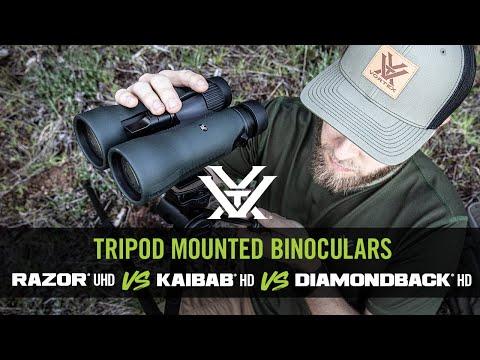 Tripod Binocular Lineup - Razor® UHD vs Kaibab® HD vs Diamondback® HD