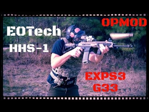 EOTech EXPS3-0 HHS-I w/ G33 3X Magnifier Review (HD)