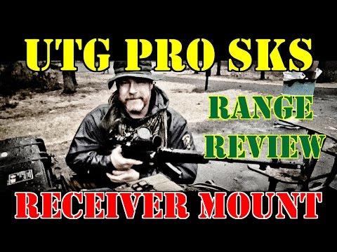 UTG PRO SKS UPPER RECEIVER MOUNT RANGE REVIEW!!! Part One RAIN RAIN RAIN