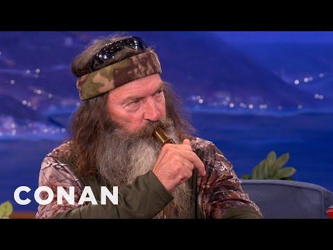 Duck Commanders Teach Conan To Make Duck Calls | CONAN on TBS