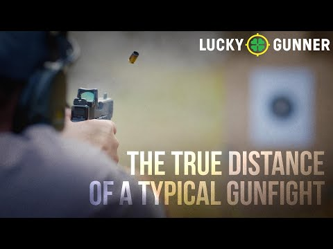 The True Distance of a Typical Gunfight