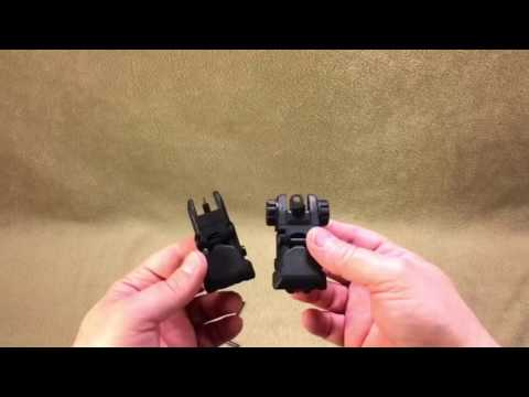 Sniper Flip-Up AR15 Sight Set from Sportsman's Guide