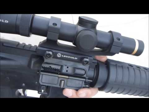 Test of Leupold VX-6 1-6 scope on AR-15 rifle