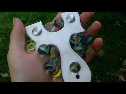 Budget Slingshot Ammo Test: 5/8 Inch Glass Marbles