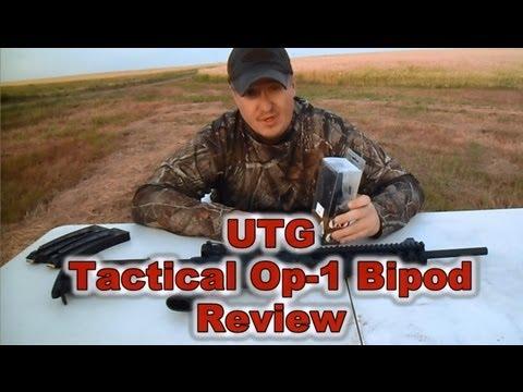 UTG TACTICAL OP-1 BIPOD REVIEW (HD)