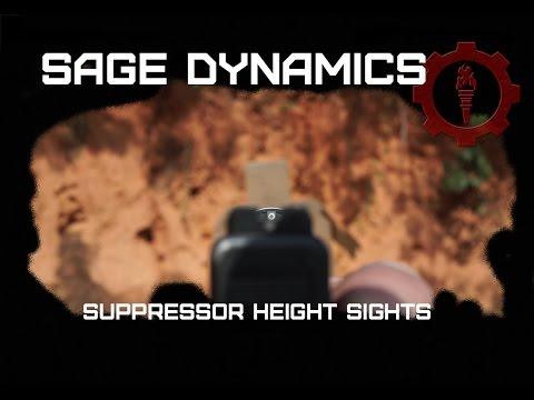 Suppressor height sights
