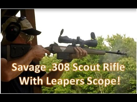 Savage Scout Rifle/Leapers Scope Accuracy/Tac Test & Review