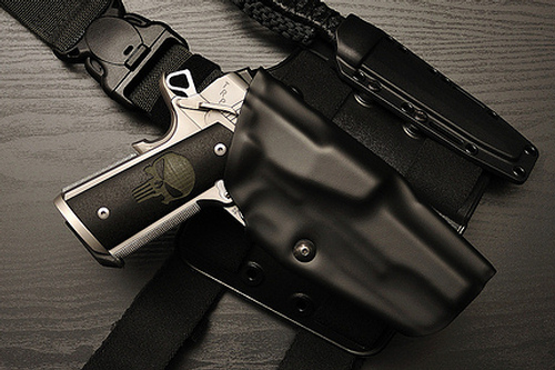 1911 holster with light, 1911 tactical holster w light